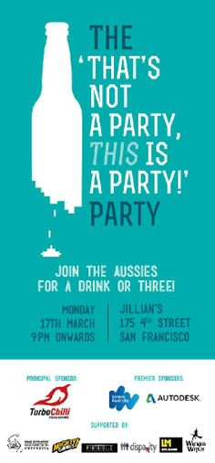 The 'That's not a party, THIS is a party!' Party with... Tickets, San Francisco - EventbriteMonday, 17 March 2014 at 9:00 PM - Tuesday, 18 March 2014 at 12:00 AM (PDT) San Francisco, CA