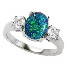 Click into the picture for 8 more unique and non-traditional engagement rings  #opalengagementrings #uniqueengagementrings #engagementring