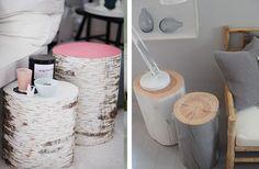 Home Shabby Home[2015 Interior Trends]: Ceppi in legno come coffe table