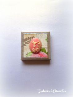 """Mini toile décorative """" Songes de fleurs """" n°51 : Accessoires de maison par jademiel-etincelles"""