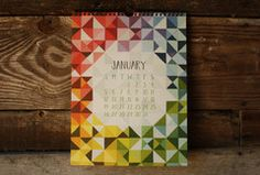 2014 Pieces & Patterns Calendar I got two of these.  One for my mom and my sister-in-law.  They love them!