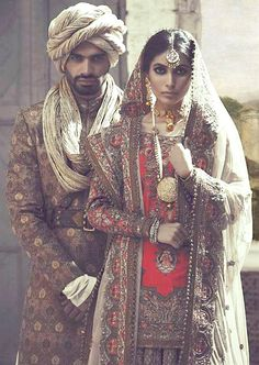 Designer : Fahad Hussayn, Gulzar Manzil Court Editions| Bride and Groom, Pakistan.