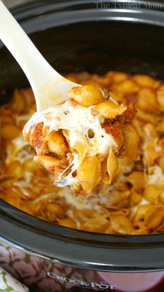 This crockpot lasagna casserole is cheesy and packed with all the flavors of traditional lasagna but easier to make! Great slow cooker dinner casserole.