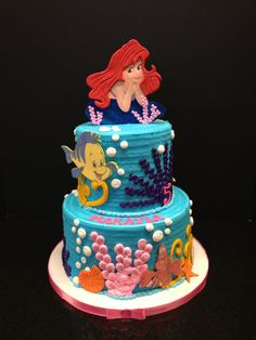 little mermaid birthday cake.....You bet I want this for my 21 birthday! :D