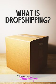 If you're thinking about opening an online store you might want to familiarize yourself with dropshipping and how it works.