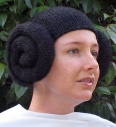 Princess Leia hat knitted