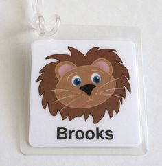 Lion Bag Tag Jungle Animal Party Favor Lion Baby by Toddletags, $5.95 #baby