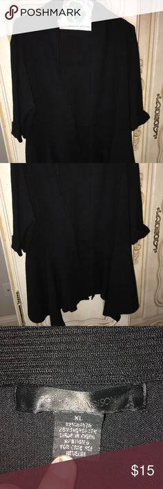 Roth and Maison sweater Barely worn black short sleeve sweater.  Super cute dressed up or down. Sweaters