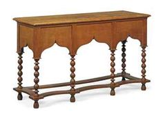 Oak Side Table  c 1900  from the collection of Will Fisher, Christie's