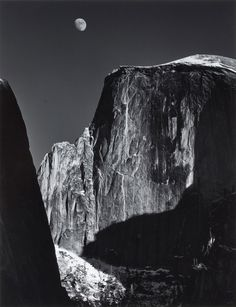 Philadelphia Museum of Art - Collections Object : Moon and Half Dome, Yosemite National Park