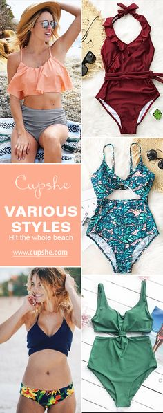 Feeling tired and craving for a holiday? Cupshe Bikini Sets here are just for you! Various styles with comfy fabric and super quality. All eyes on you! Free shipping! Pack them for your next beach leave~