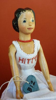 RARE Lotz Early Basswood Hitty Doll - B12 dated 5/98