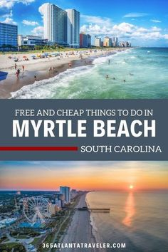 Myrtle Beach, South Carolina Things To Do on a Budget Vacation. This is a fun place to visit with kids, with beaches, boardwalk, fun attractions, restaurants and more. Myrtle Beach Sc, Myrtle Beach Things To Do, Myrtle Beach Boardwalk, Myrtle Beach South Carolina, Myrtle Beach Vacation, Beach Trip, Vacation Trips, Vacation Spots, Vacation Ideas