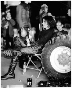 Trent Reznor - Nine Inch Nails - NIN behind the scenes, March of the Pigs video Photo by Joseph Cultice
