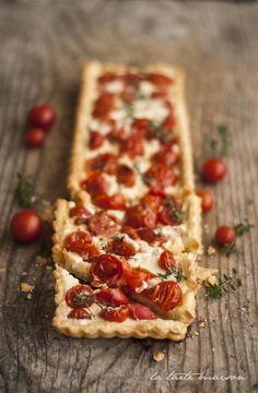 Crostata pomodori e squacquerone #latartemaison
