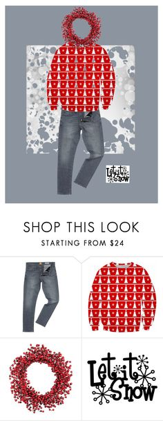 """Let it Snow"" by helen-designs ❤ liked on Polyvore featuring HUGO, Improvements, men's fashion and menswear"