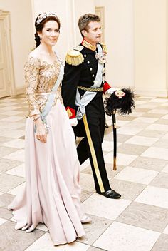 Gala Dinner for Queen Margrethe's 75th Birthday, Denmark, April 15, 2015-Crown Princess Mary and Crown Prince Frederik