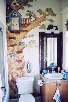Top 17 House Wall Painting Examples   MostBeautifulThings Home Wall Painting, Faux Painting, Mural Painting, Wall Paintings, Kids Room Murals, Murals For Kids, Kids Rooms, Ceiling Murals, Mural Wall Art