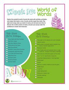 Worksheets: Week 10: World of Words