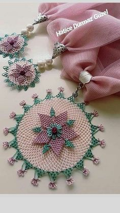Embroidery Patterns, Sewing Patterns, Scarf Jewelry, Needle Lace, Crochet Lace, Tatting, Diy And Crafts, Crochet Earrings, Floral