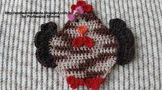Passo a passo Galinha para aplicação em Crochê | Ateliê do Barbante