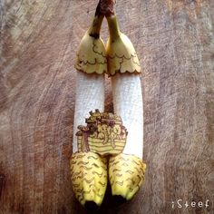Stephan Brusche's Whimsical Sculptures Carved from Bananas - My Modern Met