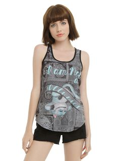 Disney Alice Through The Looking Glass Illusion Cheshire Cat Girls Tank Top   Hot Topic