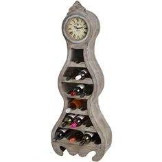 Wine display cabinet with clock feature