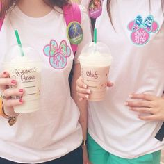 Minnie Bow Monogram Crew or V-Neck T-Shirt