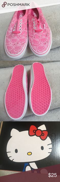 Vans Hello Kitty Pink hello kitty all over. Never been worn. No box. Best offer ☺️ Vans Shoes Sneakers