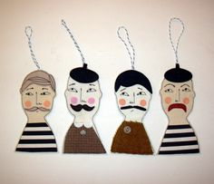 Whimsical Hanging Folk. £5.00, via Etsy.   artist- Samantha Stas.