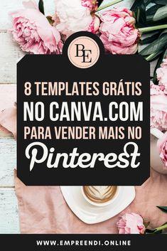 Faça mais vendas e cresça seu negócio com o Pinterest! Usando estes templates gratuitos, você economiza tempo e começa a gerar tráfego de qualidade!!! E Commerce, Crescendo, Marketing Digital, Lettering, Followers, Affiliate Marketing, Make Money Online, Tips, Money