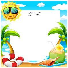 Beautiful designed backgrounds for your background Background Design Wallpapers) Kids Beach Party, Beach Kids, Summer Kids, Scrapbook Background, Invitation Background, Pekingese Puppies For Sale, Summer Backgrounds, Borders And Frames, Tropical Party