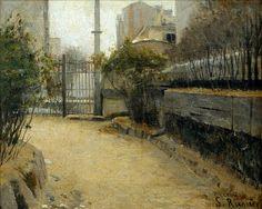 Santiago Rusiñol, Garden of Montmartre (1890-1891) on ArtStack #santiago-rusinol #art