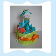 Mes nouveaux amis Gâteau de couches ou diaper cake pour cadeau de naissance ou baby shower www.lababyshowerdemaman.fr ou lababyshowerdemaman@hotmail.fr pour toutes vos demandes