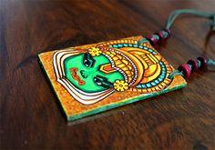 Handmade Kerala Mural Pendant Design 9 – Desically Ethnic