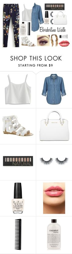 """Borderline Walk"" by mel2016 ❤ liked on Polyvore featuring Chicwish, Miss Selfridge, Fergie, Michael Kors, Forever 21, OPI, LASplash, GHD, philosophy and St. Tropez"