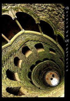 Spiral staircase up into the castle