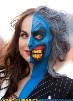 INCREDIBLE Two-Face makeup