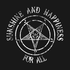Shop Sunshine and Happiness for all baphomet t-shirts designed by HomicidalHugz as well as other baphomet merchandise at TeePublic. Baphomet, Male Witch, Satanic Art, Satanic Tattoos, Occult Art, Demonology, Dark Lord, Dark Souls, Book Of Shadows