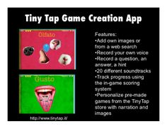 'Level Up! Engaging Students by Having Them Create a Digital Game' features TinyTap as a recommended game creation app.