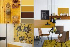 Farbe Ocker kombinieren - Goldocker Farbe des Jahres 2016 im ...