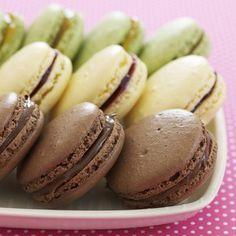 Chocolate-Hazelnut Macarons #passover #flourlessdesserts