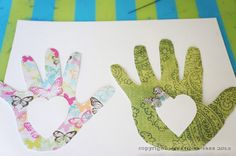 Read the book HUG by Jez Alborough and create DIY Hand Print Canvases for Mother's Day