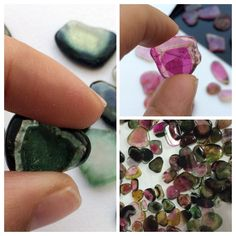 Green, Pink Or Watermelon Tourmaline Slices- they all take your breath away- these lovelies are simply awesome! Only on gemsforjewels