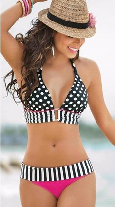 #Summer Style Dotted #Swimsuit_________Zorket Provides Only Top Quality Products for Reasonable Prices + FREE SHIPPING Worldwide_________