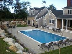 1000 Images About Semi Inground Pool Design On Pinterest