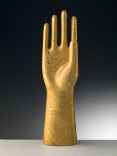 """Gio Ponti, """"Witch's hand"""", 1935. Porcelain hand-painted with gold, etched with an agate tip. For Richard-Ginori, Italy."""
