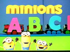 ABC song Nursery Rhymes with Minion TOYS and Thomas the train - LEARN th...