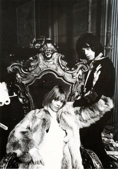 Anita Pallenberg and Mick Jagger The Rolling Stones… Bianca Jagger, Mick Jagger, Anita Pallenberg, Jerry Hall, Patti Hansen, Jean Shrimpton, The Rock Wife, Rolling Stones, Rock N Roll